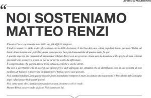 Noi sosteniamo Renzi
